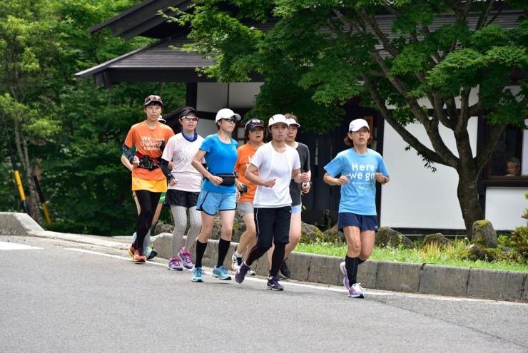 初日、開拓コースジョギング組