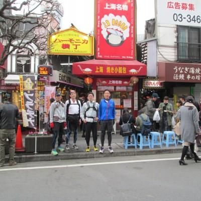 約10kmが吉祥寺駅北口、若者が詰めかけるハモニカ横丁です。