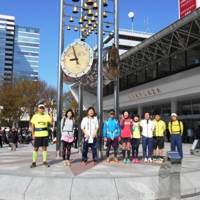 集合、受付、解散(30km)は中野サンプラザ広場、金の鈴時計台足元