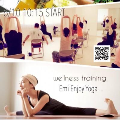 6月10日(日)Yoga & Cooking