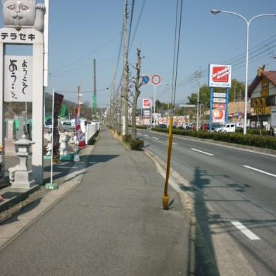 広い舗装路で坂練習。石内バイパスコース(広島市)