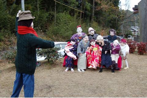 リアルな案山子に会える。神山温泉コース(神山町)