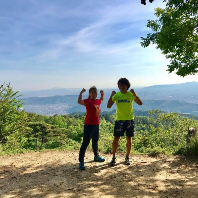 大文字山頂からの京都の景色
