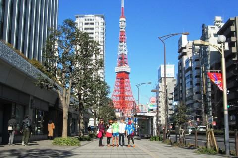 山の手お洒落エリア観光ラン!代官山、御殿山、東京タワー、青山、代々木を巡る30km&21km他
