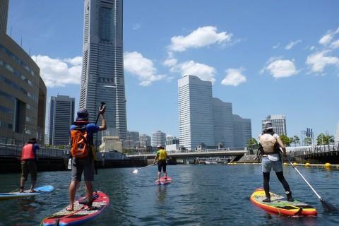 横浜街ランとスタンドアップパドル体験で夏を満喫!