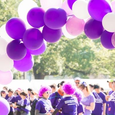 昨年度画像 「すい臓がん」を表すパープル色のスタート&ゴールゲート