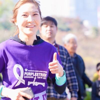 昨年度画像 たくさんのランナーが すい臓がん撲滅を祈り、皇居コースを走ります
