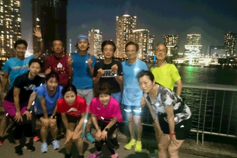 ランステ公認練習会:伴野コーチの「豊洲ぐるり公園 街ラン15キロ」8月