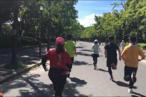 大阪城公園 煩悩108分ランニング Viento Running Club