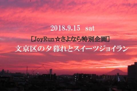 [JoyRun☆さよなら特別企画]文京区の夕暮れとスイーツジョイラン