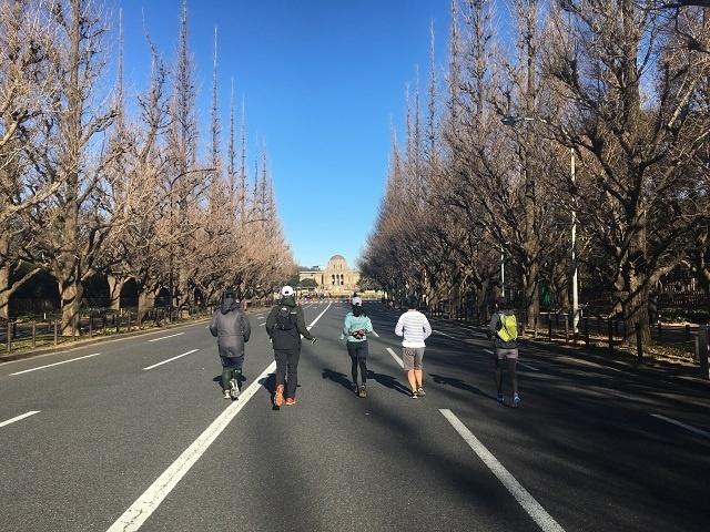 ★新春新宿シティロード 第5回「大会コースご機嫌ノンストップ21.0975km試走」