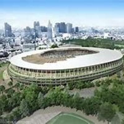 約16km地点が工事中の新国立競技場です。