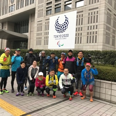 ランステ:「TOKYO」コース試走街ラン 42km 12月(1)