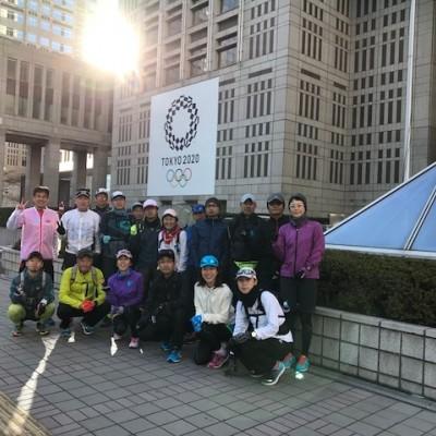 ランステ:「TOKYO」コース試走街ラン 42km 12月(2)