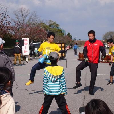 川崎友輝選手と合同でランニングクラブ教室開催