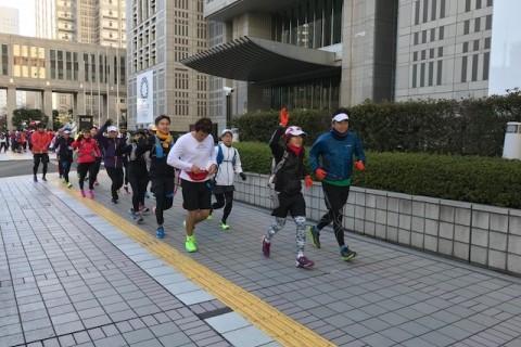 ランステ:「TOKYO」コース試走街ラン 42km 1月(2)