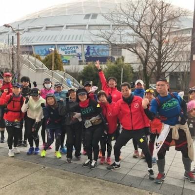 ランステ:「名古屋W」のコース試走 街ラン 42km (2)