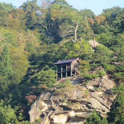 芭蕉記念館から見える山寺