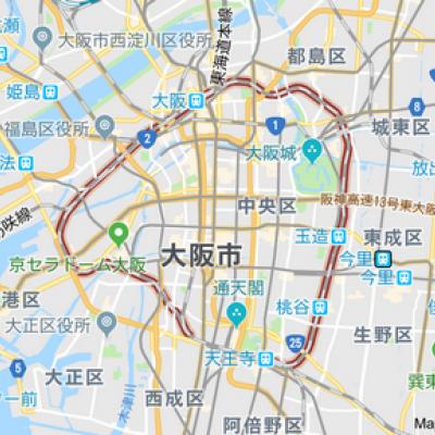 ぐるっと一周大阪環状線内回りグ...