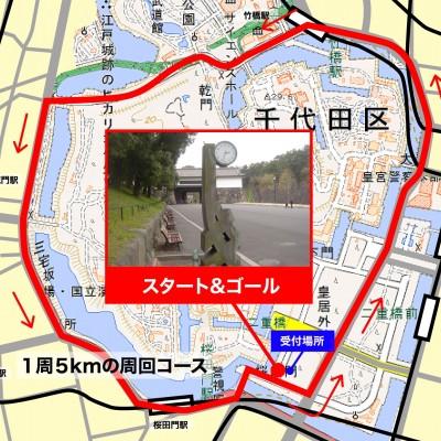 スポーツメイトラン皇居5kmランニングコース
