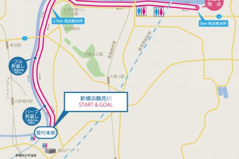 スポーツメイトラン新横浜鶴見川マラソンコース10km