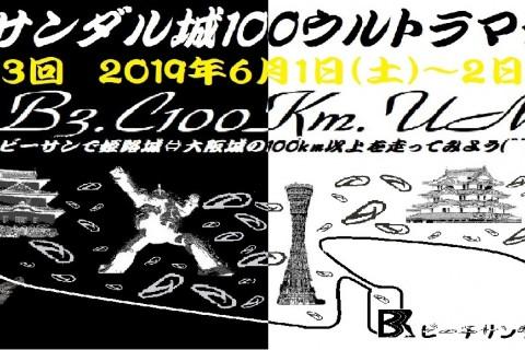 第3回ビーチサンダル城100ウルトラマラニック(^^♪ ~2019初夏のB3城100Km(東向き)~