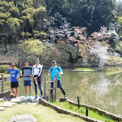7km付近は旧細川藩江戸下屋敷、肥後細川公園を案内します。。