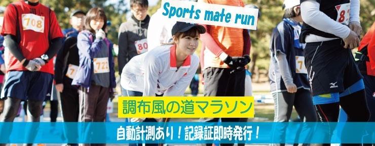 第12回スポーツメイトラン調布多摩川風の道マラソン【計測チップ有り】