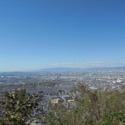 山頂からは大阪平野を見渡せます