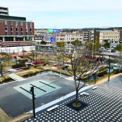 メイン会場の虎渓用水広場