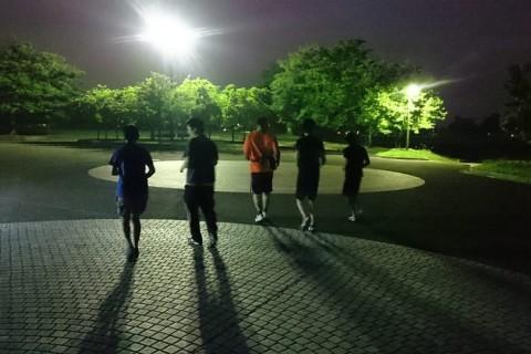 走り方を意識したランニング教室(砺波ナイトラン)