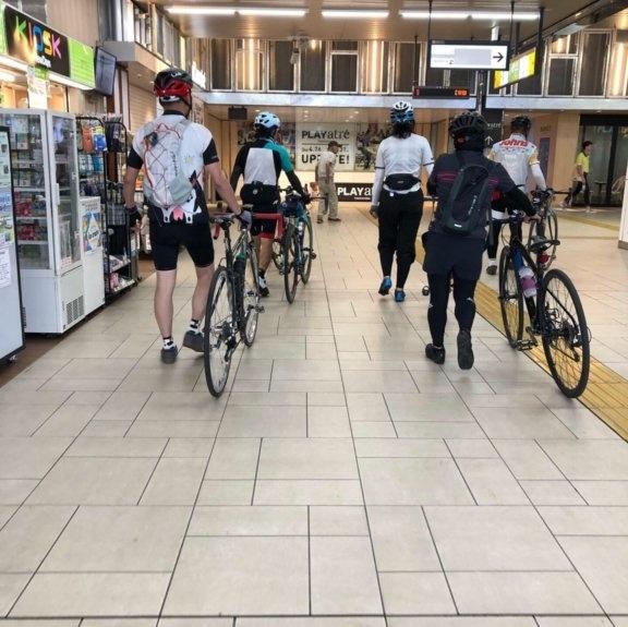 全国でも珍しい、自転車を押したまま入れる土浦駅