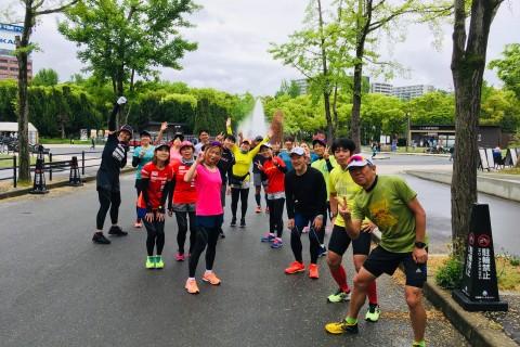 大阪城公園練習会 ロング走 大阪・神戸・奈良・淀川の基礎練習 Viento RC