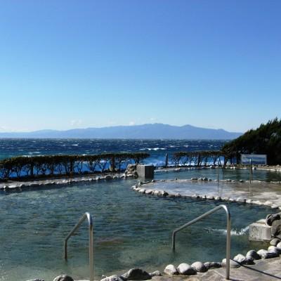 無料ご招待の「浜の湯」(水着着用の温泉施設です。必ず水着をお持ち下さい)