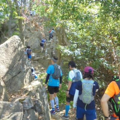 険しい山道も登ります