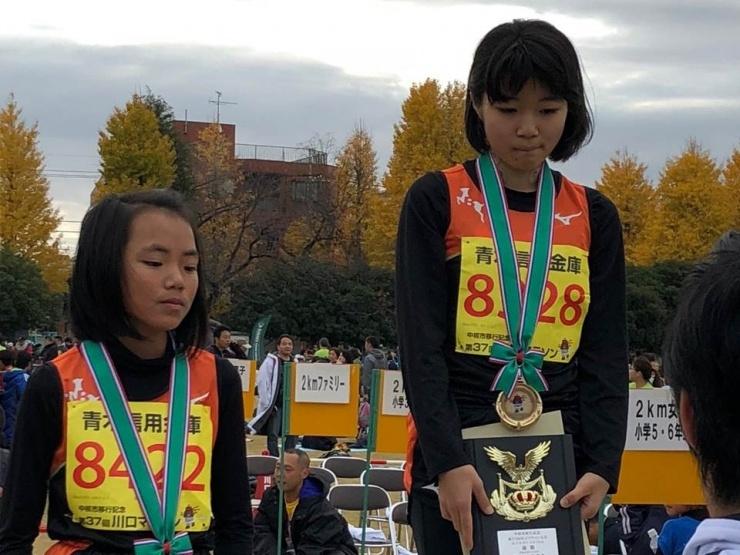 2018年12月2日川口マラソン 小学5・6年生女子の部 優勝、2位