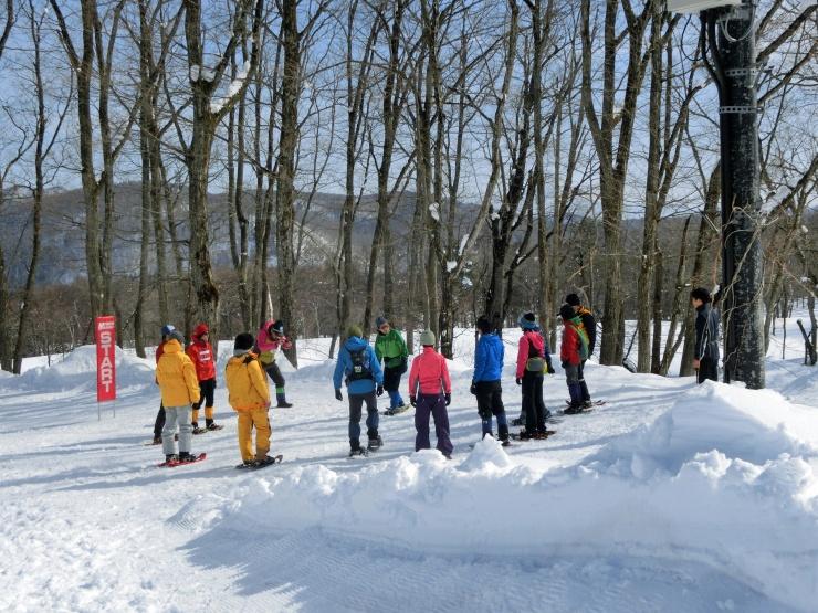 スノーシューを効率的に使って雪山を登る講習会や、雪上を走る各種講習会を毎年開催しています。