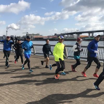 2/21(日)20~30kmロング走 sub3.25~3練習会(4分30~35秒)なにわ淀川に向けて