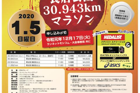 大阪府 2020 長居公園 30.943キロマラソン