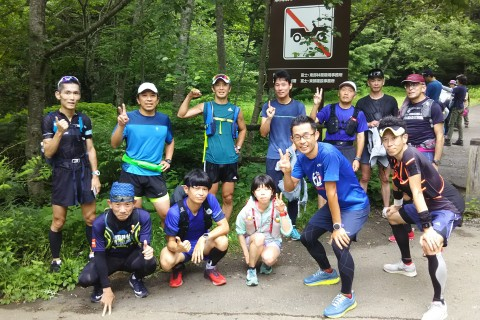 富士登山競争試走会 山頂まで 約21キロ 3200円