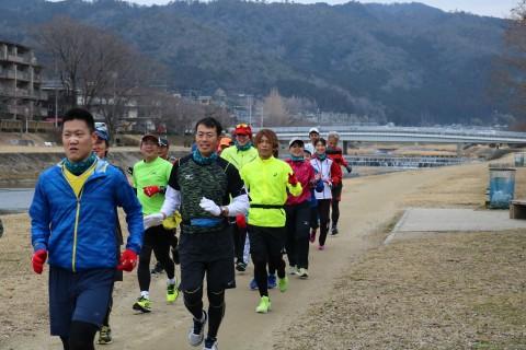 「京都マラソン2020 観光ラン」観光ランの部(後半:1/19実施)