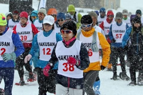 第7回全日本山岳スノーシューイング・レースin白山