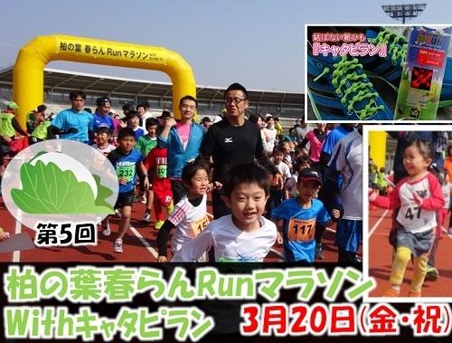 3月20日(金祝)開催 第5回柏の葉春らんRunマラソン withキャタピラン