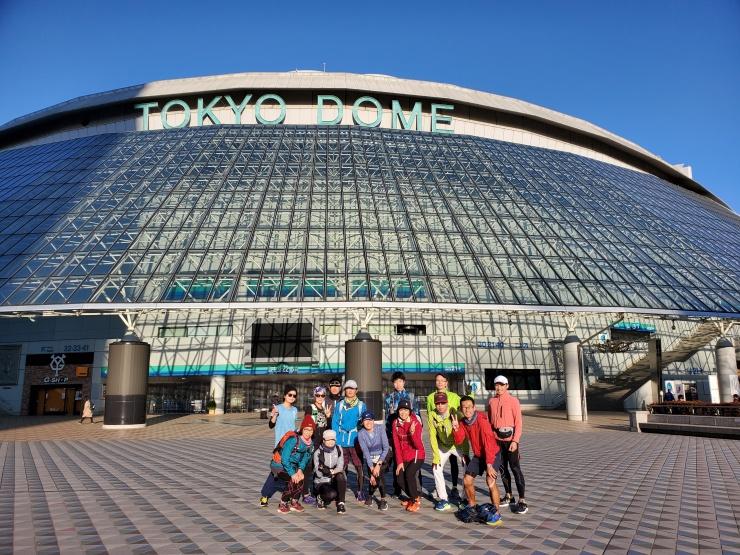 大江戸線ラン、東京ドームでの写真です。