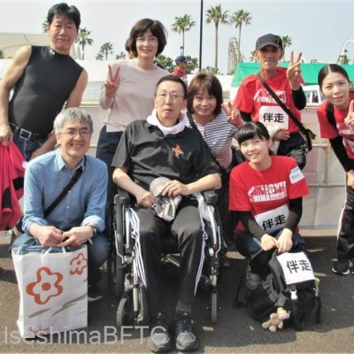 ボランティアさんと参加者さんとで記念撮影