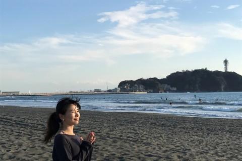 モーニングヨガ in 鎌倉材木座海岸
