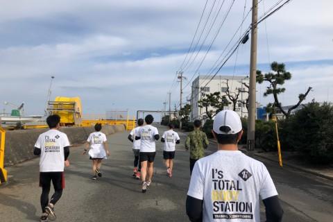 マラソン大会前ロングラン(鹿児島、東京マラソン対策)