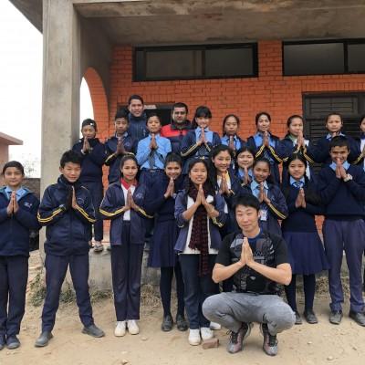 ネパールでの指導