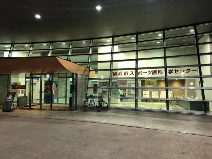 受付ポイント(スポーツ医科学センター入り口前)