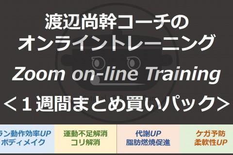 〔オンラインレッスン1週間パック〕6/1~6/7 <渡辺尚幹コーチのオンライントレーニング>
